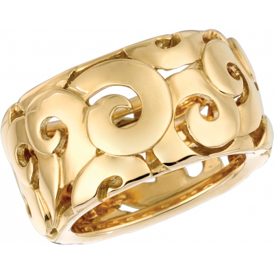 18kt Yellow Gold Arabesque Ring