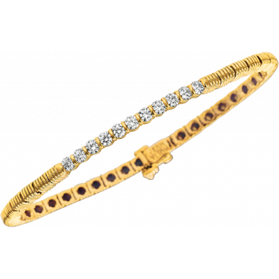 18kt Yellow Gold Bars D'Or 11 Diamond Bracelet