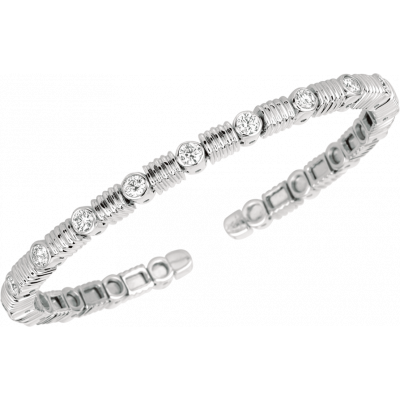 18kt White Gold Les Bars D'Or Bangle