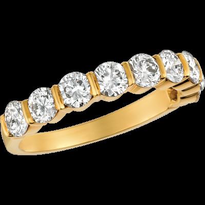 18kt Yellow Gold Gemlok 9 Stone Ring