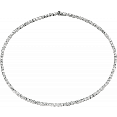 Platinum Gemlok Diamond Riviere Necklace