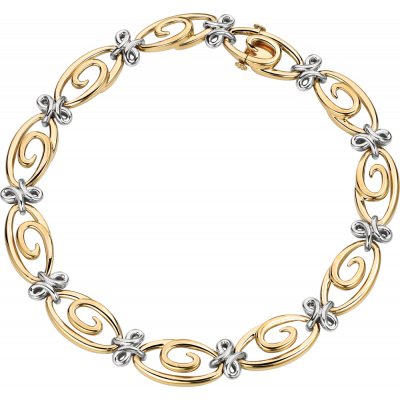 18kt Yellow and White Gold Harmonie Necklace