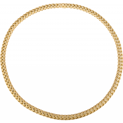 18kt Yellow Gold Vannerie Necklace