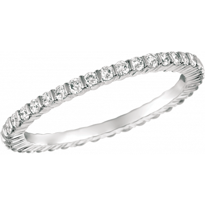 18kt White Gold Minilok Diamond Eternity Ring