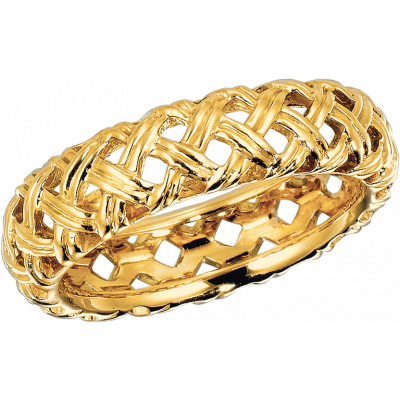 18kt Yellow Gold Vannerie Band Ring