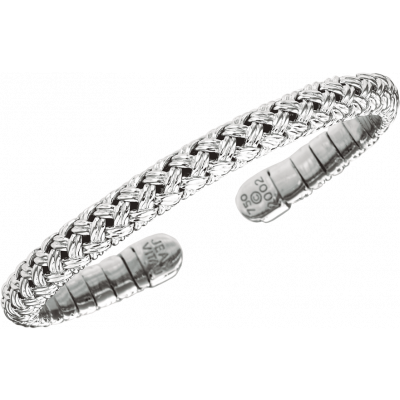 18kt White Gold Vannerie Spring Bracelet