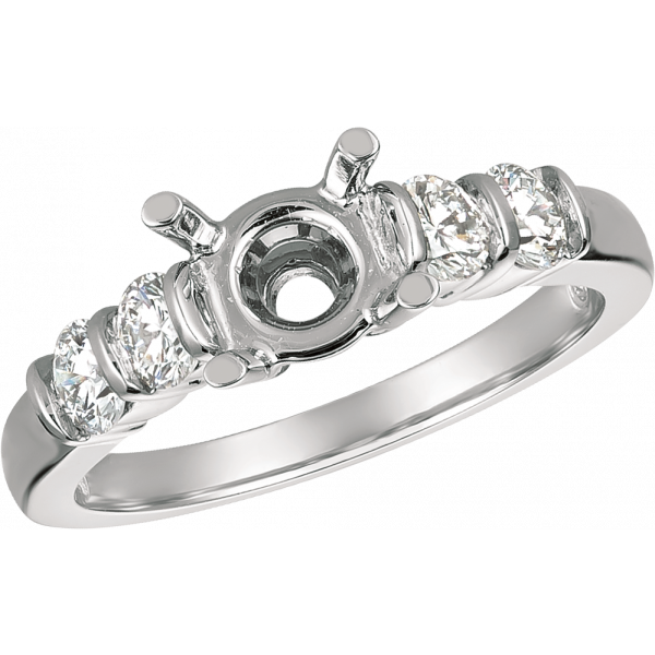 Platinum Gemlok Diamond Engagement Ring