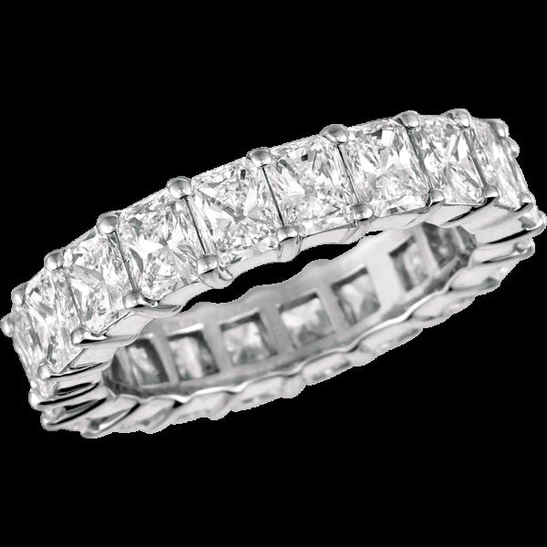 Platinum Radiant Diamond Eternity Ring