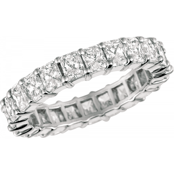 Platinum Radiant Diamond Eternity Ring