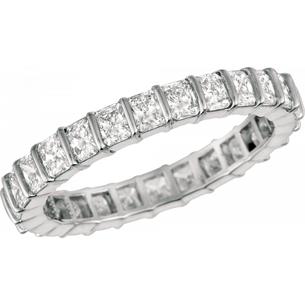 Platinum Minilok Radiant Diamond Eternity Ring