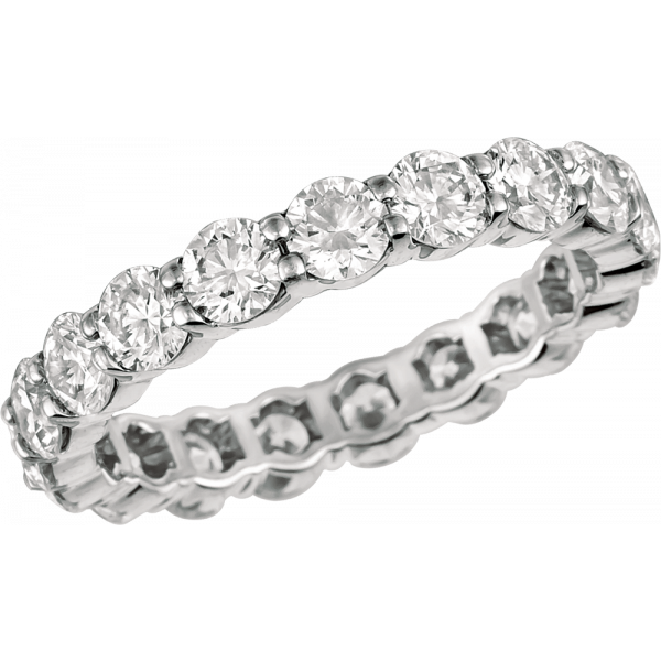 Platinum Shared Prong Eternity Ring