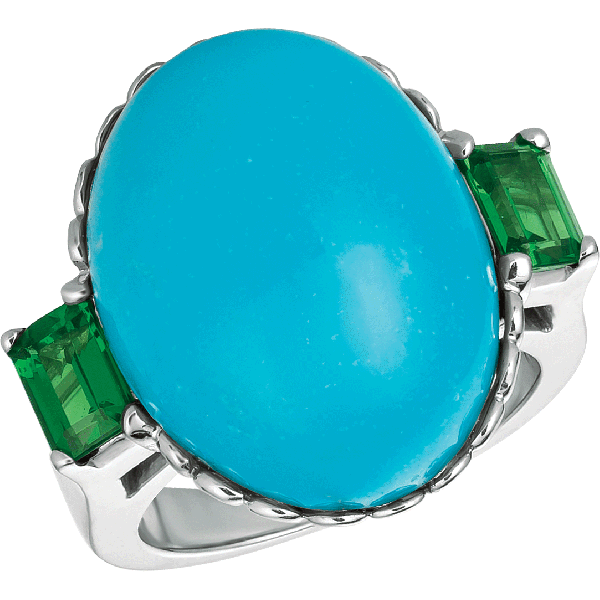 18kt White Gold Turquoise Ring