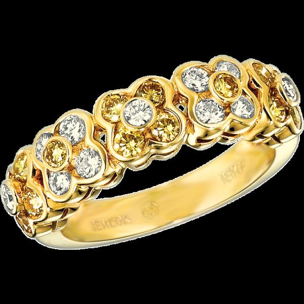 18kt Yellow Gold Petite Fleur Ring