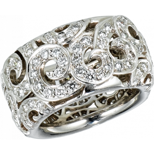 18kt White Gold Arabesque Diamond Ring