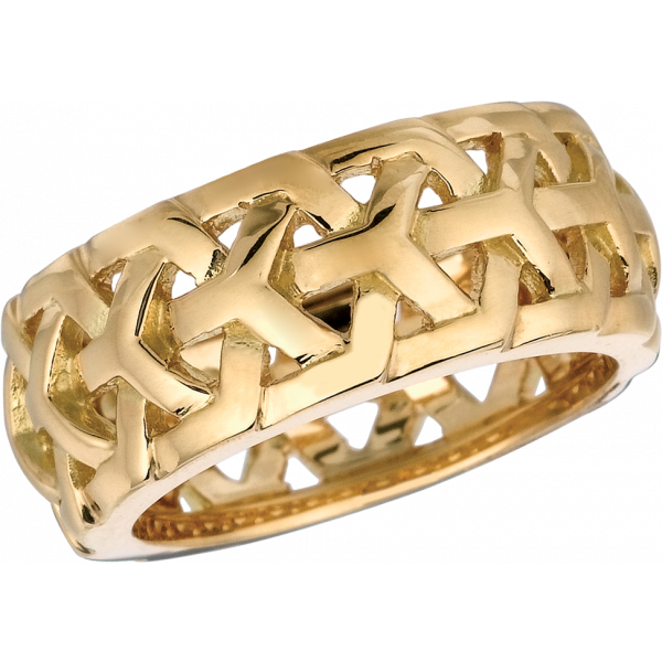 18kt Yellow Gold Y Knot Ring