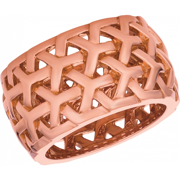 18kt Rose Gold Y Knot Wide Band Ring