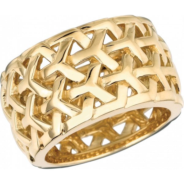 18kt Yellow Gold Y Knot Large Ring