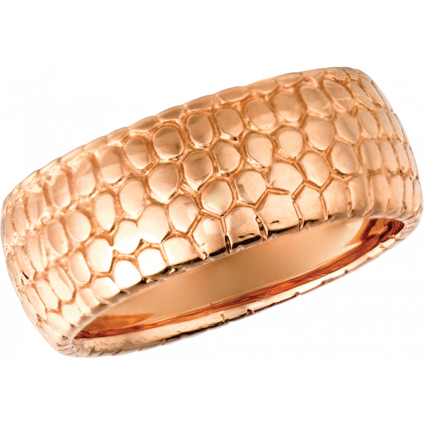 18kt Rose Gold Snake Skin Ring