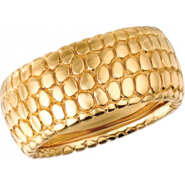 18kt Yellow Gold Snake Skin Ring