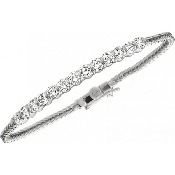 Platinum Gemlok 11 Diamond Bracelet