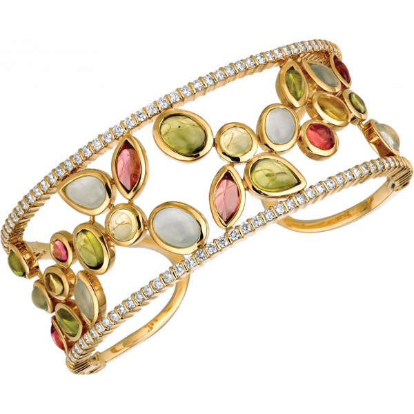 18kt Yellow Gold Minilok Winsome Bangle