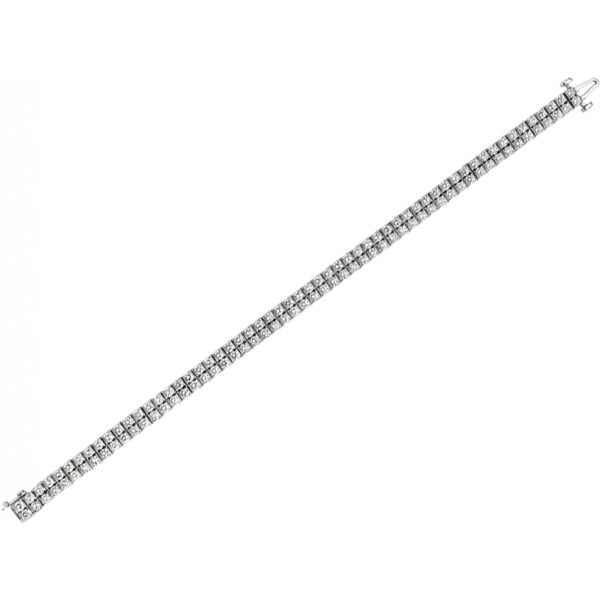 Platinum Gemlok 2 Row Diamond Bracelet