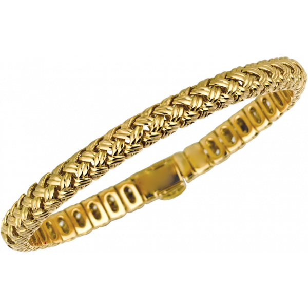 18kt Yellow Gold Vannerie Flexible Bracelet