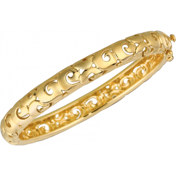 18kt Yellow Gold Arabesque Bangle