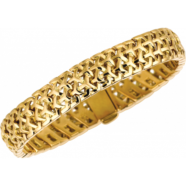 18kt Yellow Gold Y Knot Bracelet