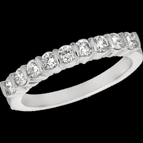 Platinum Gemlok 11 Stone Ring