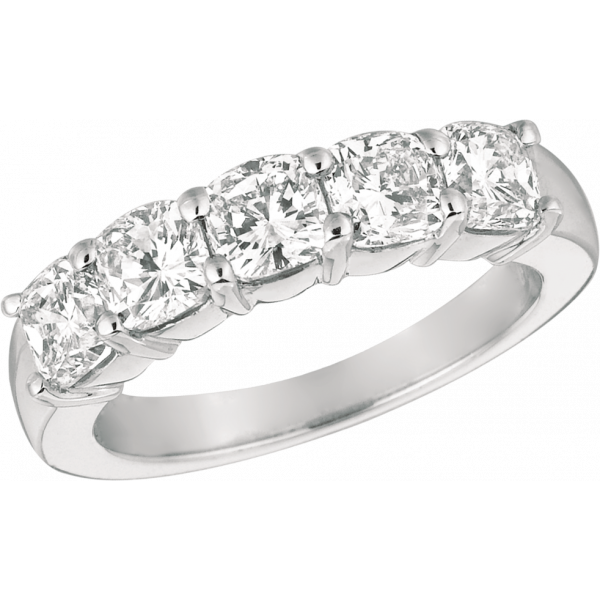 Platinum Prong Set 5 Stone ring