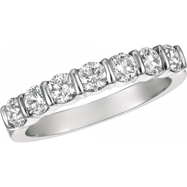 Platinum Gemlok 7 Stone ring