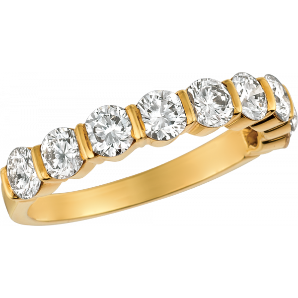 18kt Yellow Gold Gemlok 9 Stone Ring