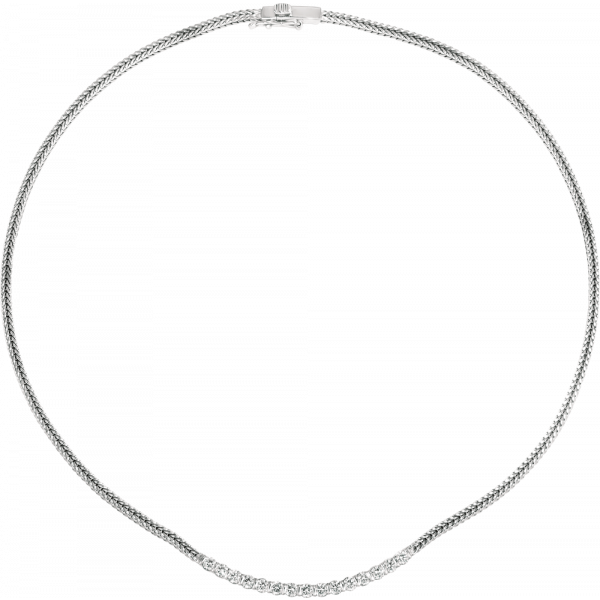 18kt White Gold Gemlok 15 Diamond Necklace