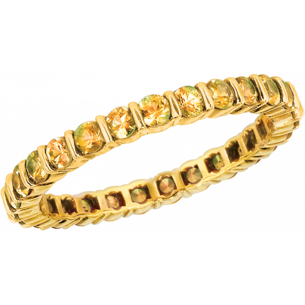 18kt Yellow Gold Gemlok Yellow Sapphire Eternity Ring