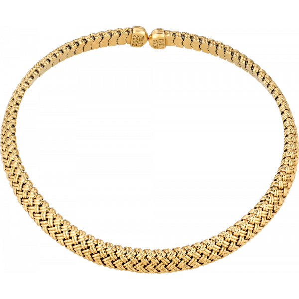 18kt Yellow Gold Vannerie Spring Necklace