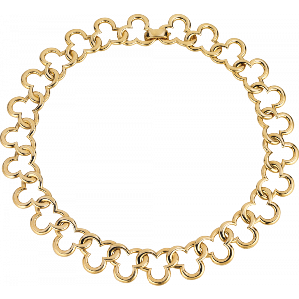 18kt Yellow Gold Mosaic Necklace