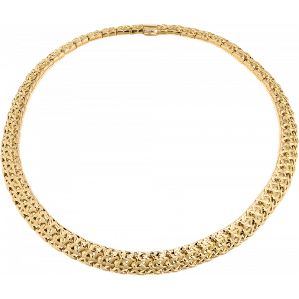 18kt Yellow Gold Y Knot Necklace