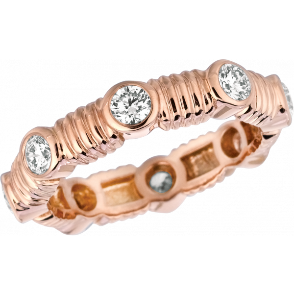 18kt Rose Gold Bars D'Or Eternity Ring