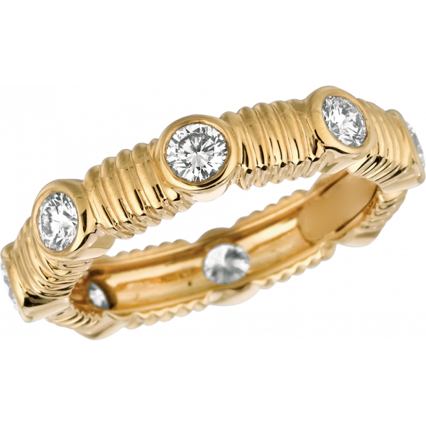 18kt Yellow Gold Bars D'Or Eternity Ring