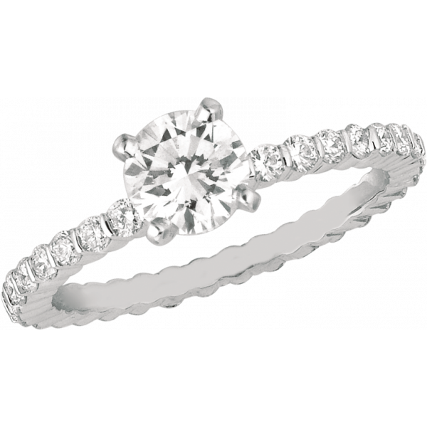 18kt White Gold Minilok Eternity Diamond Engagement Ring