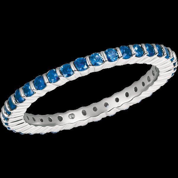 18kt White Gold Minilok Eternity Sapphire Ring