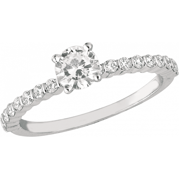 18kt White Gold Minilok Diamond Engagement Ring