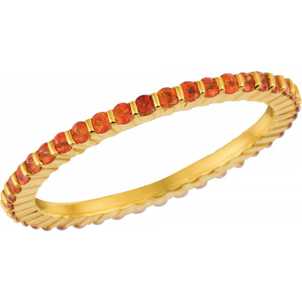 18kt Yellow Gold Poppy Topaz Minilok Eternity Ring