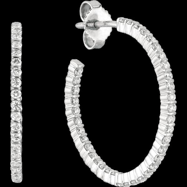 18kt White Gold Minilok Diamond Hoop