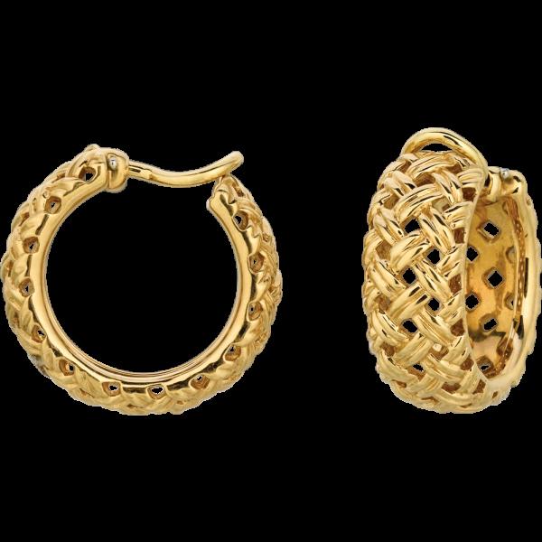 18kt Yellow Gold Vannerie Hoop Earring