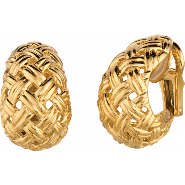 18kt Yellow Gold Vannerie Earrings