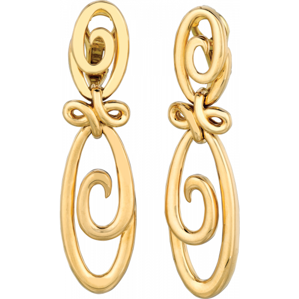 18kt Yellow Gold Double Harmonie Earrings