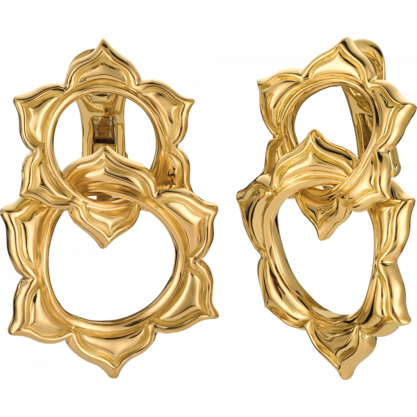 18kt Yellow Gold Soleil Double Earring