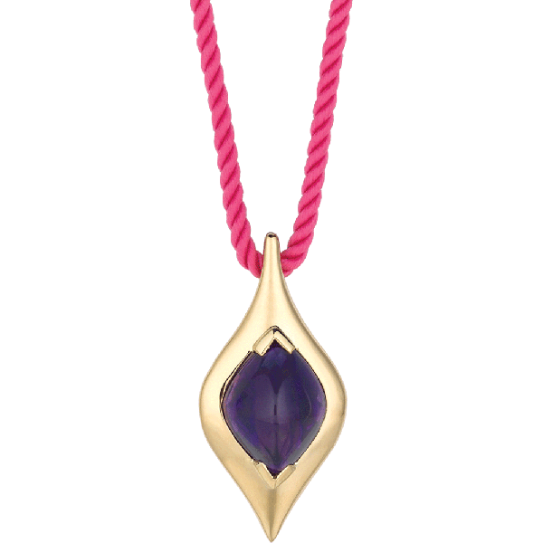 18kt Yellow Gold Unique Amythyst Pendant